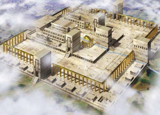 新しいエルサレム神殿 (1) 門と...